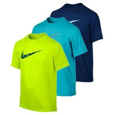 eb123801 For a classic tee with all the performance benefits you can get, the Nike  Boys' Legend Graphic Short Sleeve Tee is a great choice.