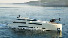 This fall—just six months after launching its first boat, a 42-foot weekend cruiser—Wider Yachts introduced plans for the much larger Wider 150. The yacht will draw power from a hybrid propulsion system and will store a 33-foot Wider-built tender in the aft garage.