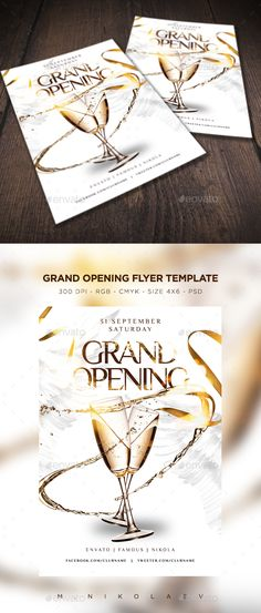 Promote Your Grand Opening With This Flyer. First Class And Classy