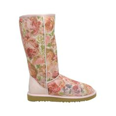 New Style Arrival Classical Pink UGG Romantic Flower Tall Boots