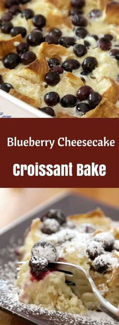 This Blueberry Cheesecake Croissant Bake is a versatile dish for breakfast, brunch or dessert. It only takes 10 minutes to prepare before it goes into the oven, and the amazing aroma will lure everyone over to enjoy it.
