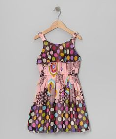 Take a look at this Pink Polka Dot Floral Dress - Toddler & Girls by Lipstik Girls on #zulily today!