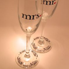 Hey, I found this really awesome Etsy listing at http://www.etsy.com/listing/94857978/wedding-toasting-flutes-mr-mrs