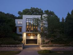 Architect Benjamin designed this modern house for himself in the late 1950s.