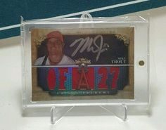 MIKE TROUT 2013 TOPPS TRIPLE THREADS AUTO RELIC SILVER INK /25  #AnaheimAngels