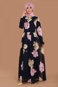 Cansel Dijital Baskılı Elbise Laci Ürün kodu: BNM00204--> 119.90 TL Abaya Fashion, Muslim Fashion, Fashion Dresses, Heavy Lehenga, Abaya Style, Islamic Clothing, Office Looks, Abayas, Hijabs