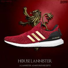 quality design 7198f b9def 《Game of Thrones》x adidas 聯乘 UltraBOOST「Lannister」配色曝光