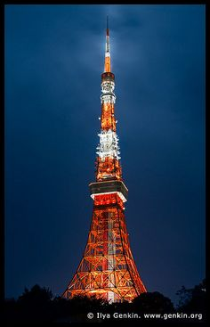 Tokyo Tower at Night - Mainland Tokyo Tower, And So The Adventure Begins, Beautiful Scenery, Tokyo Japan, New Mexico, Castles, Places To Go, Travel Photography, Destinations