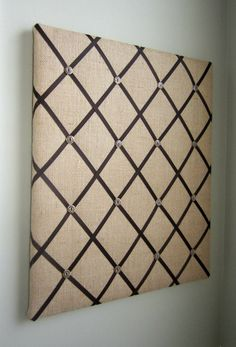 20x24 French Memory Board or Bow Holder Burlap by MemoriestoYou, $120.00