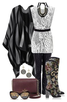 """""""twenty 'Bamboo Breeze' Tunic #1"""" by polyvore4leah ❤ liked on Polyvore featuring Current/Elliott, Dolce&Gabbana, Kate Spade, Twenty, Matthew Williamson, Mixit and Margot & Me"""