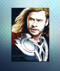 Thor PRINT digital painting Avengers member by DrawingIllustration, $18.73
