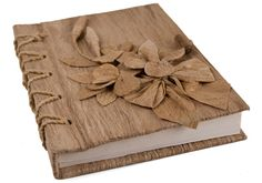 handmade products | ... Journals | Large Brown Flower Handmade Journal | CREATIVE IMPORTS