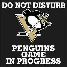 Do not disturb penguins game in progress