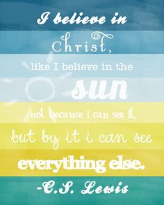 c.s. lewis always knew how to say it