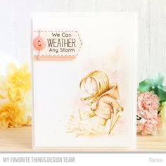 Stamps: Rain or Shine Die-namics: A2 Stitched Rectangle STAX Set 2  Torico #mftstamps