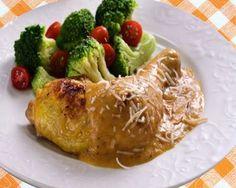Pollo al horno con mango y coco