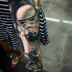 Star wars clone tattoo arm