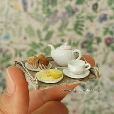 Miniature coffee set♡ ♡ By coffee sed miniatures