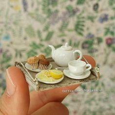 Miniature coffee set♡ ♡ By coffee sed miniatures