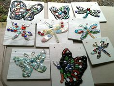 The last nine butterflies grouted!, Katie Waller via Flickr.  These will be installed at the Pioneer Settlement for the Creative Arts in Barberville, FL.... very soon! :)