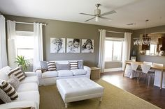i love how simple and chic this living room/ dining combo is...amazing work!