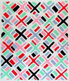 Fabric pattern by Sonia Delaunay / 1930 / Composition 34 / Orphism Sonia Delaunay, Robert Delaunay, Pretty Patterns, Beautiful Patterns, Color Patterns, Textile Patterns, Textile Design, Fabric Design, Geometric Patterns