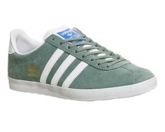 newest e8887 84378 Buy Legend Green Adidas Gazelle Og from OFFICE.co.uk. Green Adidas Trainers