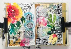 Art Journal Pages, Art Journal Backgrounds, Doodle Art Journals, Journal Themes, Art Journaling, Kunstjournal Inspiration, Art Journal Inspiration, Collage Video, Collage Art
