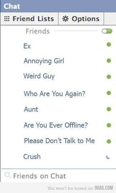 this is practically exactly why I never turn on FB chat.