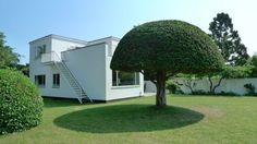 Arne Jacobsen's own home in Charlottenlund