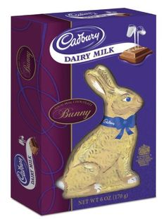 Cadbury Easter Dairy Milk Solid Milk Chocolate Bunny, 6-Ounce Boxes (Pack of 4) $21.54