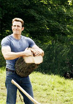 Chris Evans - This is never not going to be attractive to me