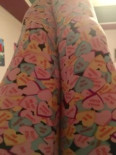 One of my five pairs of V-Day leggings! 💕