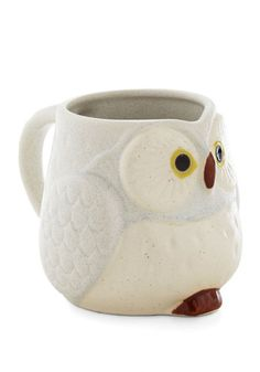 Fly Through Your Morning Mug - Multi, Owls, Good, Woodland Creature, Print with Animals