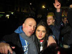 Melissa (Benelux Top Model) Baas en ik tijdens The Harlem Shake Utrecht
