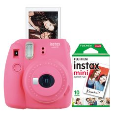 FujiFilm Instax Mini 9 Instant Print Camera with 20 Pack of Film Sony Camera, Digital Camera, Poloroid Camera, Reflex Camera, Camera Gear, Instant Print Camera, Dslr Photography Tips, Close Up Lens, Home Security Systems