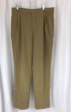 New Bobby Jones Golf Khaki Double Pleat Mens Pants sz 38 x 37 (Unhemmed) #BobbyJones #DressPleat