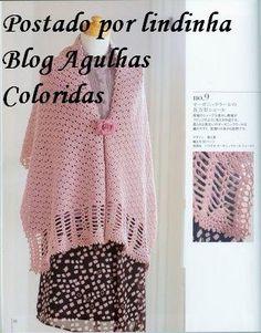 Rosa  Aghi colorati e Trico Croche: Sciarpa