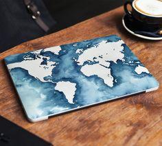 World Map Laptop Skin Sticker Notebook Vinyl Decal Blue Dell Hp Lenovo Asus Chromebook Acer Laptop Decal Cover Skins For Any Laptop Stickers Dell Laptop Skin, Laptop Skin Cover, Laptop Covers, Computer Cover, Laptop Case, Apple Laptop Macbook, Macbook Skin, Acer, Macbook Stickers