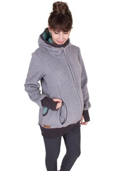 Viva la Mama   Baby Carrying Jacket ARCTICA (3in1- grey). Hoody for pregnancy, maternity, baby wearing and everyday use. The baby will be save and warm in this beautiful baby wearing jacket. A perfect present for birth or baby shower. :)