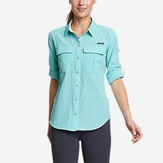 Women's New Arrivals | Eddie Bauer Plus Size Stores, Eddie Bauer, Chef Jackets, Long Sleeve Shirts, Men Casual, Sleeves, Fabric, Mens Tops, How To Wear