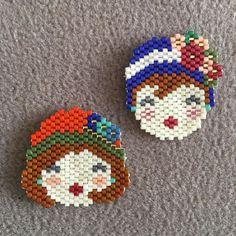 Bi kız kardeşi olmalı insanınmiyuki #peyote #brickstitch #handmade #elişi #broş #yakaiğnesi