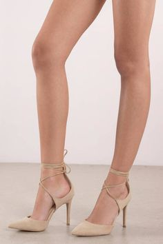 Add our Jennifer Strappy Closed Toe Heels to your heel collection. Featuring lace up strappy detail and a pointed toe. Tie Up Heels, Dress And Heels, Ankle Strap Heels, Ankle Straps, Strappy Heels, Homecoming Heels, Prom Heels, Beige Heels, Fashion Heels