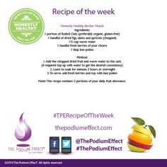 Why not try this honestly healthy Bircher muesli recipe this week? #thepodiumeffect