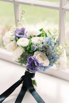 The Most Stunning Classic Blue Wedding Details Wedding Event Planner, Wedding Events, Wedding Bouquets, Wedding Flowers, Beauty Hair Extensions, Kind Of Blue, Toronto Wedding, Color Of The Year, Bridal Hair Accessories