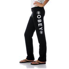 Obey Girls Coco Black Sweatpants