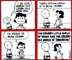 Charlie Brown comic strip: Queen of Crabby, Lucy van Pelt