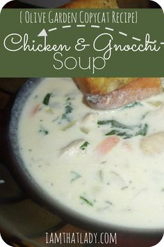 This Chicken and Gnocchi Soup is made to replicate Olive Gardens soup recipe. I have to say - it tastes just like the real deal!