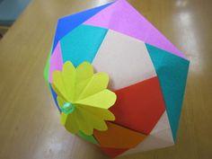 纸艺小阳伞的制作教程完成后效果图