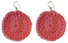 crochet+beginner+circle+earring